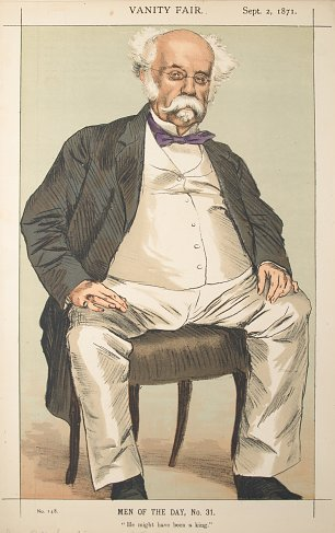 James Tissot Caricature of The Duke of Saldanha Wandbild