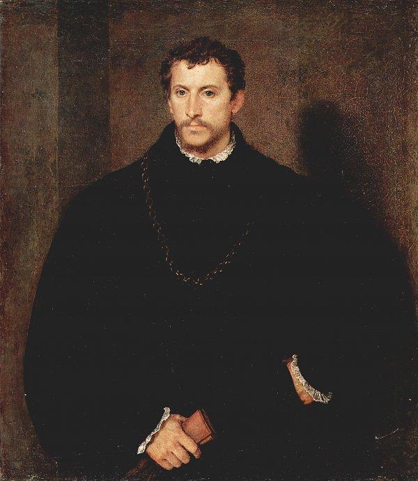 Wandbild tizian portrait eines jungen mannes der junge englaender