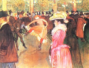Toulouse Lautrec Ball im Moulin Rouge 1 Wandbild