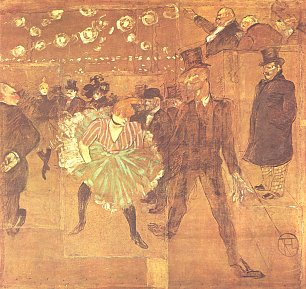 Toulouse Lautrec Ball im Moulin Rouge 2 Wandbild