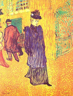 Toulouse Lautrec Jane Avril verlaesst das Moulin Rouge