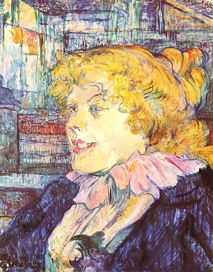 Toulouse Lautrec Portrait der Miss Dolly aus dem Star in Le Havre Wandbild