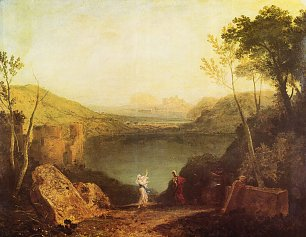 William Turner Aeneas und die Sibylle Lake Avernus Wandbild