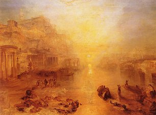 William Turner Altes Italien Der aus Rom verbannte Ovid Wandbild