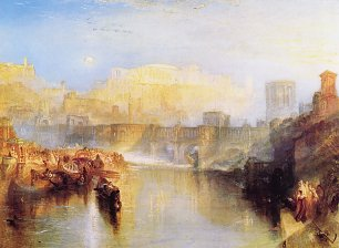 William Turner Altes Rom; Agrippina landet mit der Asche von Germanicus Wandbild