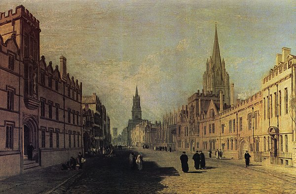 William Turner Ansicht der High Street Oxford