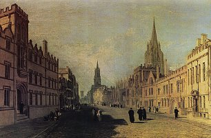 William Turner Ansicht der High Street Oxford Wandbild
