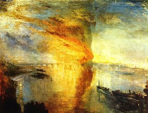 William Turner Brand des Parlamentsgebaeudes am 16 Oktober 1834 Wandbild