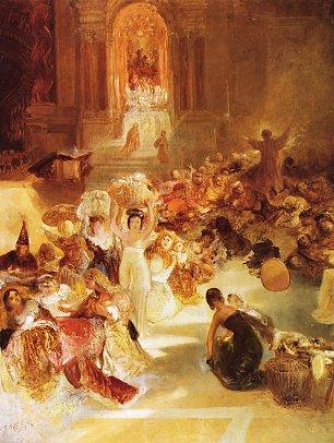 William Turner Christus treibt die Haendler aus dem Tempel hinaus Wandbilder