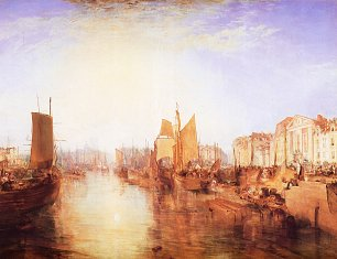 William Turner Der Hafen von Dieppe Changement de Domicile Wandbild