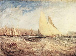 William Turner Die Regatta segelt luvwaerts Wandbild