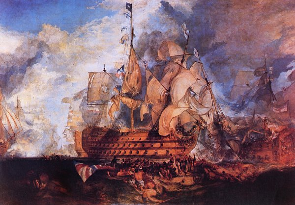 William Turner Die Schlacht von Trafalgar