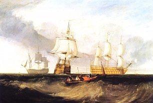 William Turner Die Victory bei der Rueckkehr aus Trafalgar Wandbilder
