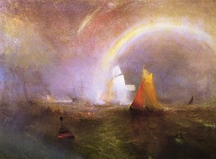 William Turner Die Wrackboje Wandbild