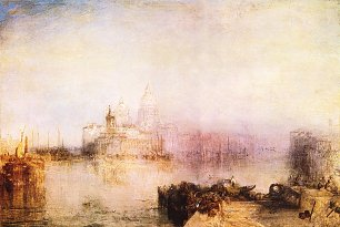 William Turner Dogana und Santa Maria della Salute in Venedig Wandbild
