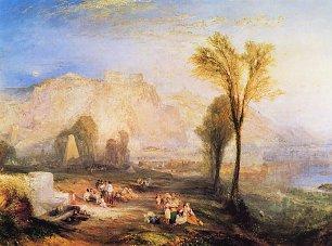 William Turner Ehrenbreitstein und Gruft von Marceau nach Byrons Childe Harold Wandbilder