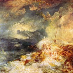 William-Turner-Feuer-auf-dem-Meer