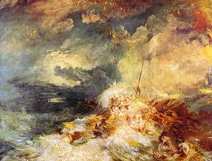 William Turner Feuer auf dem Meer