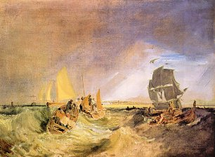 William Turner Flotte an der Muendung der Themse Wandbild
