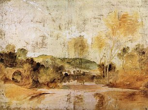 William Turner Flussszene mit Reuse in mittlerer Entfernung Wandbild