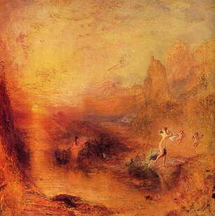William Turner Glaucus und Scylla Wandbild