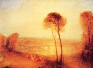 William Turner Landschaft mit Walton Bruecken Wandbild