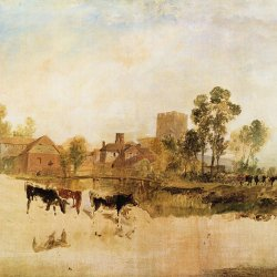 William-Turner-Muehle-und-Kirche-in-Goring