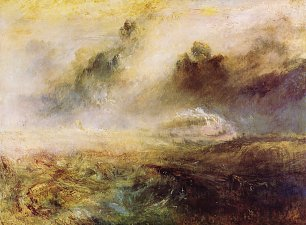 William Turner Rauhes Meer mit Schiffbruch Wandbild