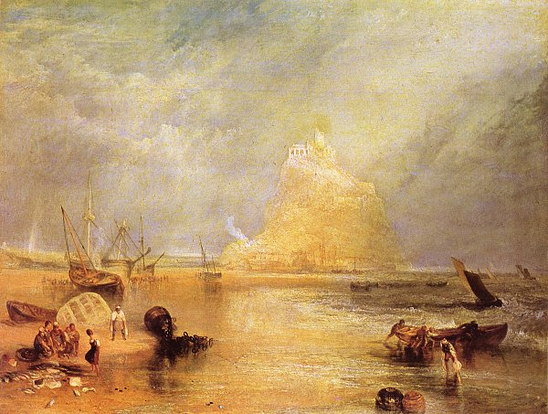 William Turner St Michaels Mount Cornwall Wandbild