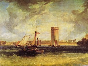 William Turner Tabley der Sitz von Sir J F Leicester Bart Ein windiger Tag Wandbild