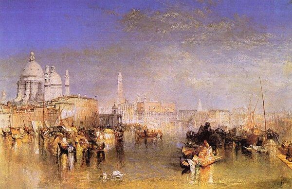 William Turner Venedig vom Canale della Giudecca aus Chiesa di S Maria della Salute