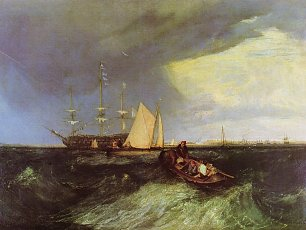 William Turner Wachschiff beim Great Nore Sheerness Wandbild