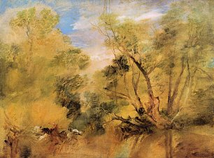 William Turner Weiden neben einem Strom
