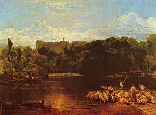 William Turner Windsor Castle an der Themse Wandbild