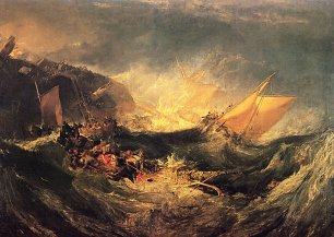 William Turner Wrack eines Transportschiffes Wandbild
