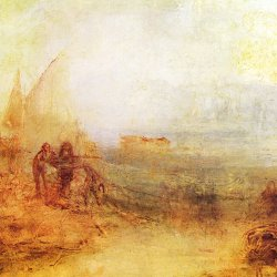 William-Turner-Wracks-an-der-Kueste-Sonnenaufgang-im-Nebel