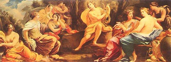Simon Vouet Apollo und die Musen Leinwandbild