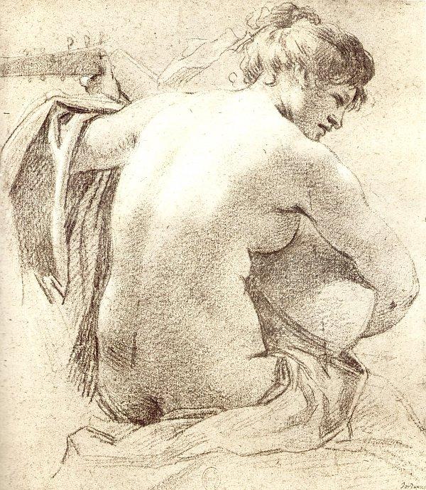 Simon Vouet  Lautenspielerin Wandbild auf Leinwand