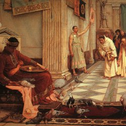 John-William-Waterhouse-The-Favorites-of-the-Emperor-honorius