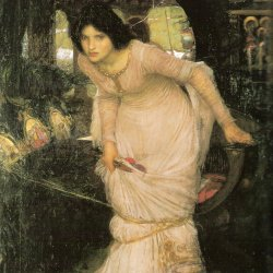 John-William-Waterhouse-The-Lady-of-Shallot-Looking-at-Lancelot
