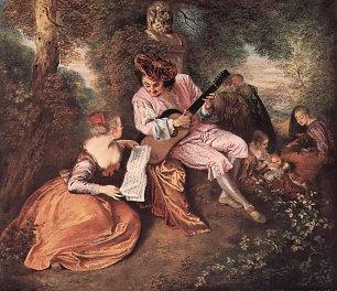 Antoine Watteau Das Liebelied Wandbilder