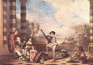 Antoine Watteau Die Schoenheit des Lebens Wandbilder