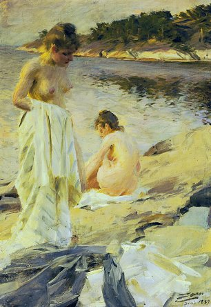Anders Zorn Les Baigneuses