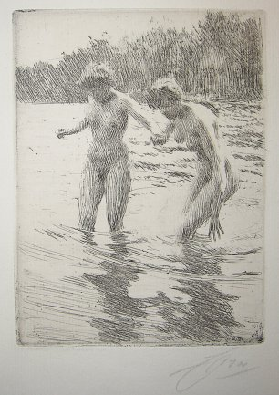 Anders Zorn Two Bathers
