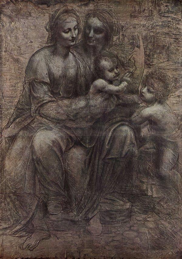 Anna Selbdritt Leonardo Da Vinci