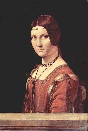 Leonardo Da Vinci Portrait einer jugnen Frau Wandbilder