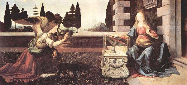 Leonardo Da Vinci Verkuendigung an Maria 2