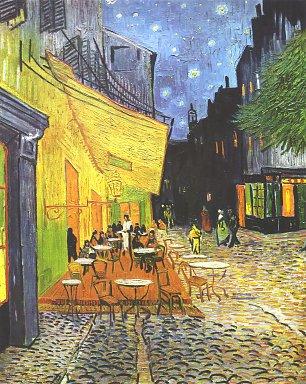 Vincent van Gogh Cafeterasse bei Nacht Wandbilder