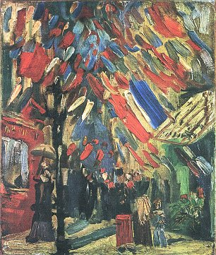 Vincent van Gogh Der 14 Juli in Paris Wandbild