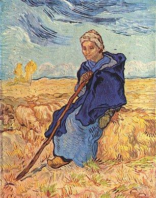Vincent van Gogh Die Hirtin Wandbilder